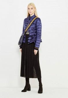 Куртка утепленная, Liu Jo, цвет: синий. Артикул: LI687EWUDM91. Премиум / Одежда / Верхняя одежда
