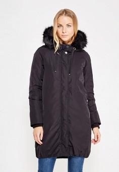 Пуховик, Mango, цвет: черный. Артикул: MA002EWWFB04. Женская одежда / Верхняя одежда / Пуховики и зимние куртки