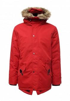 Куртка утепленная, Modis, цвет: красный. Артикул: MO044EMWYW26. Мужская одежда / Верхняя одежда / Парки