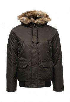 Парка, Modis, цвет: зеленый. Артикул: MO044EMWYW30. Мужская одежда / Верхняя одежда / Пуховики и зимние куртки