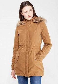 Парка, Modis, цвет: коричневый. Артикул: MO044EWWHD56. Женская одежда / Верхняя одежда / Парки
