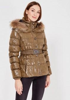 Пуховик, Colin's, цвет: хаки. Артикул: MP002XW0EVG6. Женская одежда / Верхняя одежда / Пуховики и зимние куртки