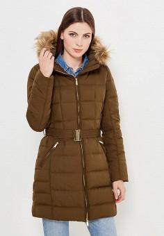 Пуховик, Colin's, цвет: хаки. Артикул: MP002XW1AIOS. Женская одежда / Верхняя одежда / Пуховики и зимние куртки