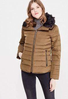 Пуховик, Colin's, цвет: хаки. Артикул: MP002XW1AIQN. Женская одежда / Верхняя одежда / Пуховики и зимние куртки