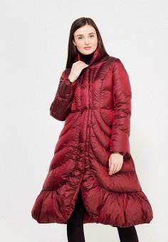 Пуховик, Odri, цвет: бордовый. Артикул: OD001EWYGM49. Женская одежда / Верхняя одежда / Пуховики и зимние куртки