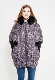 Пуховик, Odri, цвет: черно-белый. Артикул: OD001EWYGM52. Женская одежда / Верхняя одежда / Пуховики и зимние куртки