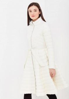 Пуховик, Odri, цвет: белый. Артикул: OD001EWYGM61. Женская одежда / Верхняя одежда / Пуховики и зимние куртки