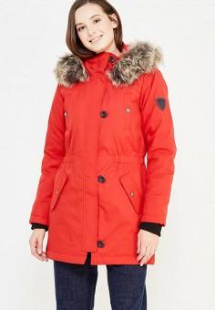 Парка, Only, цвет: красный. Артикул: ON380EWUPR11. Женская одежда / Верхняя одежда / Парки