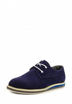 Ботинки, oodji, цвет: синий. Артикул: OO001AMMQY26. Мужская обувь / Ботинки и сапоги