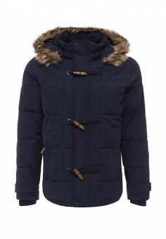 Куртка утепленная, oodji, цвет: синий. Артикул: OO001EMLXC47. Мужская одежда / Верхняя одежда / Пуховики и зимние куртки