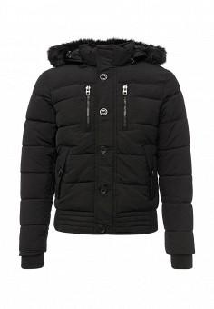 Куртка утепленная, oodji, цвет: черный. Артикул: OO001EMYLG34. Мужская одежда / Верхняя одежда / Пуховики и зимние куртки