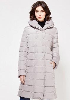 Куртка утепленная, oodji, цвет: серый. Артикул: OO001EWZHC27. Женская одежда / Верхняя одежда / Пуховики и зимние куртки