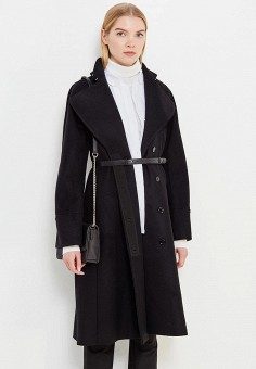 Пальто, Patrizia Pepe, цвет: черный. Артикул: PA748EWTUR46. Премиум / Одежда / Верхняя одежда