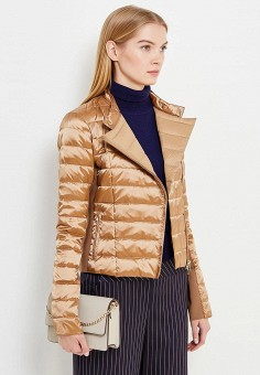 Пуховик, Patrizia Pepe, цвет: золотой. Артикул: PA748EWTUR50. Премиум / Одежда / Верхняя одежда / Пуховики и зимние куртки