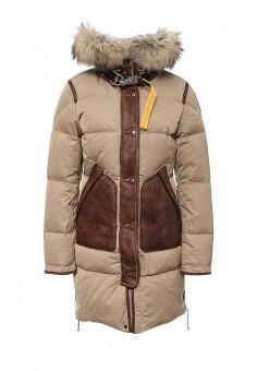 Пуховик, Parajumpers, цвет: бежевый. Артикул: PA997EWKKF70. Женская одежда / Верхняя одежда / Пуховики и зимние куртки
