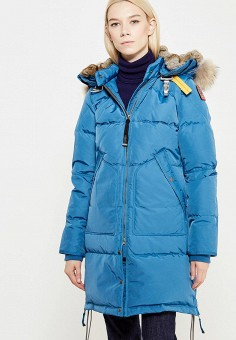 Пуховик, Parajumpers, цвет: синий. Артикул: PA997EWTCG38. Премиум / Одежда / Верхняя одежда / Пуховики и зимние куртки