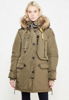 Пуховик, Parajumpers, цвет: хаки. Артикул: PA997EWTCG46. Премиум / Одежда / Верхняя одежда / Пуховики и зимние куртки