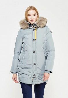 Пуховик, Parajumpers, цвет: голубой. Артикул: PA997EWTCG48. Женская одежда / Верхняя одежда / Пуховики и зимние куртки