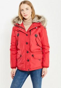 Пуховик, Parajumpers, цвет: красный. Артикул: PA997EWTCG49. Женская одежда / Верхняя одежда / Пуховики и зимние куртки