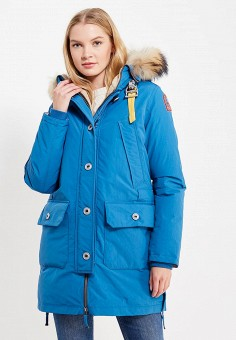Пуховик, Parajumpers, цвет: голубой. Артикул: PA997EWXYI26. Женская одежда / Верхняя одежда / Пуховики и зимние куртки