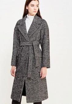 Пальто, Pennyblack, цвет: серый. Артикул: PE003EWTCJ49. Премиум / Одежда / Верхняя одежда