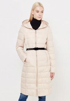 Куртка утепленная, Pinko, цвет: бежевый. Артикул: PI754EWUKK84. Премиум / Одежда / Верхняя одежда