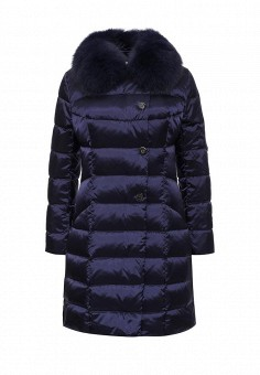Пуховик, Savage, цвет: синий. Артикул: SA004EWLPC84. Женская одежда / Верхняя одежда / Пуховики и зимние куртки