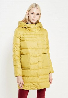 Пуховик, Savage, цвет: желтый. Артикул: SA004EWVJW67. Женская одежда / Верхняя одежда / Пуховики и зимние куртки