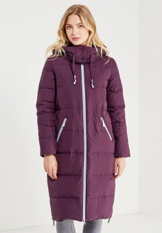 Пуховик, Savage, цвет: фиолетовый. Артикул: SA004EWVJW70. Женская одежда / Верхняя одежда / Пуховики и зимние куртки