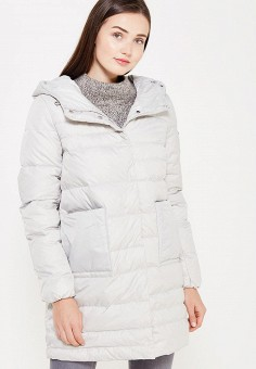 Пуховик, Savage, цвет: серый. Артикул: SA004EWVJW82. Женская одежда / Верхняя одежда / Пуховики и зимние куртки