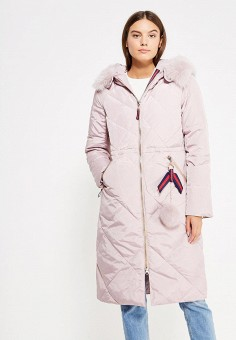 Пуховик, Savage, цвет: розовый. Артикул: SA004EWVJW86. Женская одежда / Верхняя одежда / Пуховики и зимние куртки