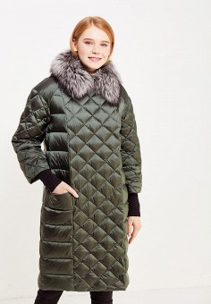 Пуховик, Savage, цвет: зеленый. Артикул: SA004EWVJW89. Женская одежда / Верхняя одежда / Пуховики и зимние куртки