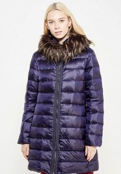 Пуховик, Savage, цвет: синий. Артикул: SA004EWVJW92. Женская одежда / Верхняя одежда / Пуховики и зимние куртки