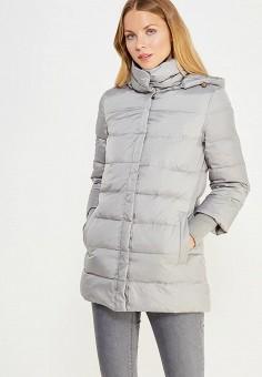 Пуховик, Sela, цвет: серый. Артикул: SE001EWURO69. Женская одежда / Верхняя одежда / Пуховики и зимние куртки