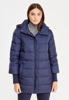 Пуховик, Sela, цвет: синий. Артикул: SE001EWURO70. Женская одежда / Верхняя одежда / Пуховики и зимние куртки