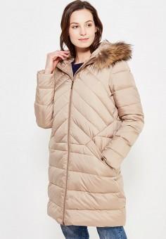 Пуховик, Sela, цвет: бежевый. Артикул: SE001EWURO80. Женская одежда / Верхняя одежда / Пуховики и зимние куртки