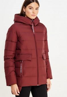 Пуховик, Tom Farr, цвет: бордовый. Артикул: TO005EWWUW03. Женская одежда / Верхняя одежда / Пуховики и зимние куртки