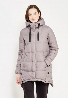 Пуховик, Tom Farr, цвет: серый. Артикул: TO005EWWUW15. Женская одежда / Верхняя одежда / Пуховики и зимние куртки