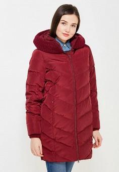 Пуховик, Tom Farr, цвет: бордовый. Артикул: TO005EWWUW23. Женская одежда / Верхняя одежда / Пуховики и зимние куртки