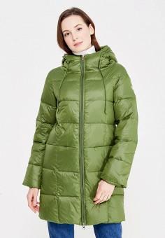 Пуховик, Tom Farr, цвет: зеленый. Артикул: TO005EWWVA48. Женская одежда / Верхняя одежда / Пуховики и зимние куртки