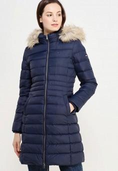Пуховик, Tommy Hilfiger Denim, цвет: синий. Артикул: TO013EWUFJ61. Женская одежда / Верхняя одежда / Пуховики и зимние куртки
