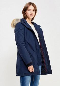 Пуховик, Tommy Hilfiger Denim, цвет: синий. Артикул: TO013EWUFJ99. Женская одежда / Верхняя одежда / Пуховики и зимние куртки