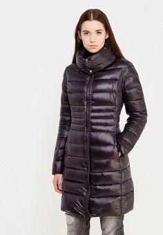 Пуховик, Trussardi Jeans, цвет: черный. Артикул: TR016EWUWF10. Премиум / Одежда / Верхняя одежда / Пуховики и зимние куртки