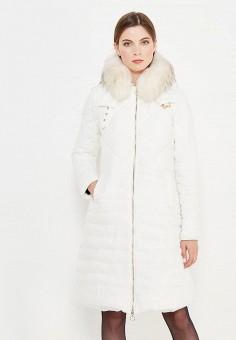 Куртка утепленная, Twin-Set Simona Barbieri, цвет: белый. Артикул: TW005EWUMD09. Премиум / Одежда / Верхняя одежда