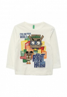 Лонгслив, United Colors of Benetton, цвет: белый. Артикул: UN012EBVWX90. United Colors of Benetton