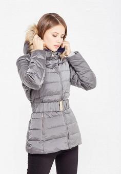 Пуховик, United Colors of Benetton, цвет: серый. Артикул: UN012EWWLY73. Женская одежда / Верхняя одежда / Пуховики и зимние куртки
