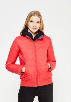 Пуховик, United Colors of Benetton, цвет: красный, синий. Артикул: UN012EWWLZ29. Женская одежда / Верхняя одежда / Пуховики и зимние куртки