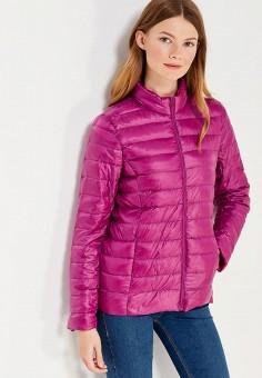 Пуховик, Vitario, цвет: фиолетовый. Артикул: VI056EWXFA42. Женская одежда / Верхняя одежда