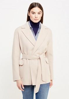 Пальто, Weekend Max Mara, цвет: бежевый. Артикул: WE017EWTMH91. Премиум / Одежда / Верхняя одежда